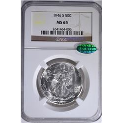 1946-S WALKING LIBERTY HALF NGC MS-65 CAC
