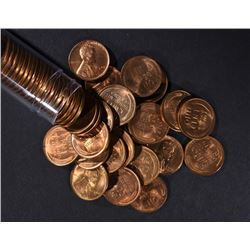 BU ROLL OF 1944-S LINCOLN CENTS