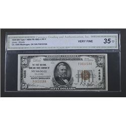 1929 $50 TYPE 1 NATIONAL CURRENCY