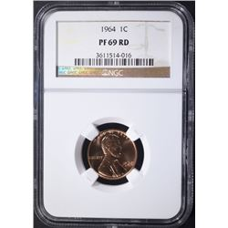 1964 LINCOLN CENT NGC PF 69 RD