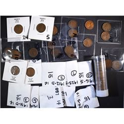 BAG OF INDIAN & LINCOLN CENTS: SOME SEMI-KEY COINS