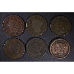 1832, 42, 46, 2-48 & 1853 LARGE CENTS