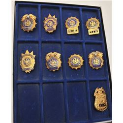 18DC-7 9 NEW YORK BADGES