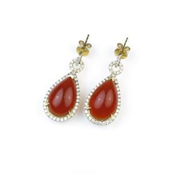 18CAI-16 FIRE OPAL EARRINGS