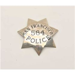 18DC-102 SAN FRAN. POLICE BADGE