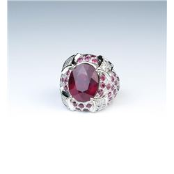 18CAI-9 RUBY  DIAMOND RING
