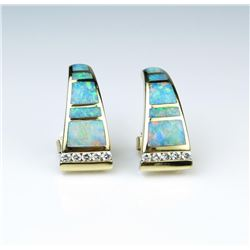 18CAI-2 BLACK OPAL  DIAMOND EARRINGS