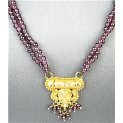 18CAI-5 GARNET NECKLACE