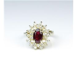 18CAI-22 RUBY  DIAMOND RING