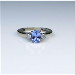 18CAI-57 TANZANITE  DIAMOND RING