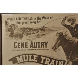 18EX-7 GENE AUTRY MULE TRAIN POSTER