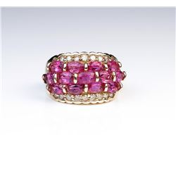 18CAI-42 PINK TOURMALINE  DIAMOND RING