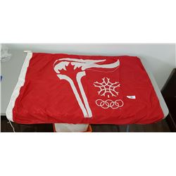VINTAGE WINTER OLYMPIC WINTER FLAG