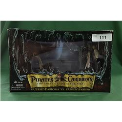 PIRATES OF THE CARIBBEAN CURSED BARBOSA & CURSED JACK SPARROW ACTION FIGURES