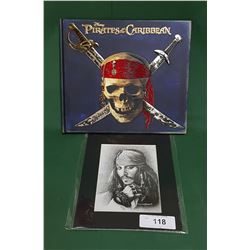 PIRATES OF THE CARIBBEAN SECRET FILES BOOK & SIGNED PRINT