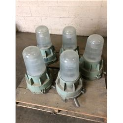 Lot of (5) Explosion Proof Lights