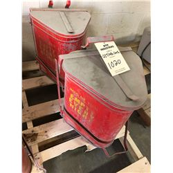 Lot of (2) Metal Shop Trash Cans