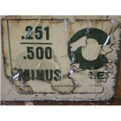 """Vermont Gage .251"""" - .500"""" C-Series Pin Gages"""