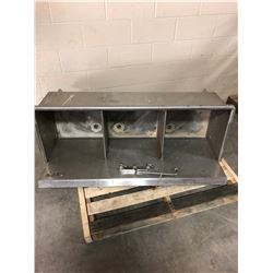 Three Section Stainless Steel Shop Sink