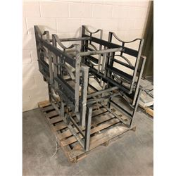 Lot of (3) Metal Barrel Racks 55 Gal