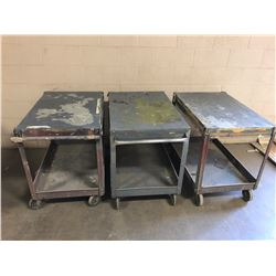 Lot of (3) Light Weight Shop Carts