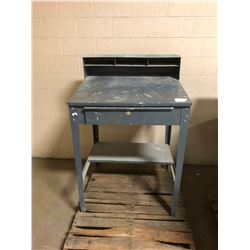"Metal Shop Writing Desk w/Contents 30"" x 34.5"" x 53"""