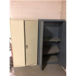 Lot of (2) Metal Shop Storage Units