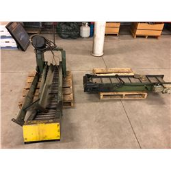 Lot of (2) Small Chip Conveyors DIMS in Description