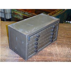"Drill Bit Organizer, with Drills, Overall: 15"" x 8"" x 8"""