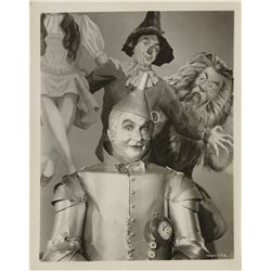 """Tin Man"" and ""Cowardly Lion"" (7) portrait photographs from The Wizard of Oz."