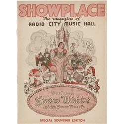 Snow White and the Seven Dwarfs premiere program from Radio City Music Hall.