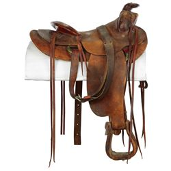 """Clark Gable """"Gay Langland"""" saddle from The Misfits."""