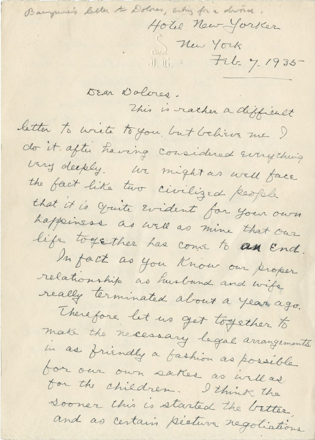 letter to wife before divorce