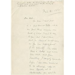 John Barrymore's letter to his brother Lionel about his impending divorce.