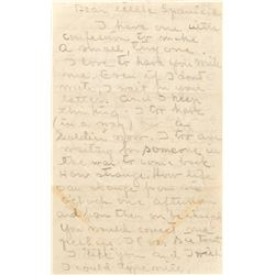 "Greta Garbo autograph letter to Gilbert Roland ""…I too have (in a way) a 'Soldier' now""."
