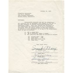 The Marx Brothers signed contract agreement.