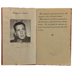 """Humphrey Bogart """"Harry Morgan"""" prop passport from To Have and Have Not."""