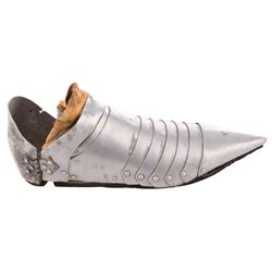 "Ingrid Bergman ""Joan of Arc"" plate armor shoe from Joan of Arc."