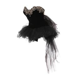 "Elizabeth Taylor ""Helen"" black leotard with tutu from The Last Time I Saw Paris."