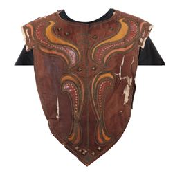 "John Wayne ""Genghis Khan"" leather vest from The Conqueror."