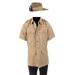 "Jack Hawkings ""Major Warden"" shirt and hat from The Bridge on the River Kwai."