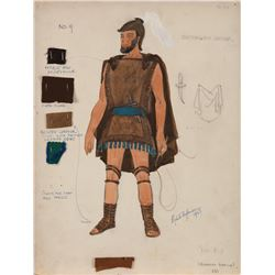 The Byzantine's costume sketch from Ben-Hur.