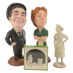 Figurines and cartoon from The Honeymooners.