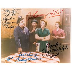 Jackie Gleason, Art Carney and cast signed photo from The Honeymooners.