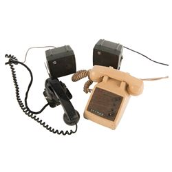 Telephone and equipment from The Green Hornet.