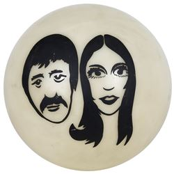 Sonny and Cher caricature light globe from The Sonny and Cher Comedy Hour.