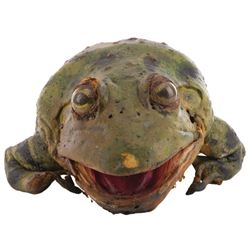 """""""Bud"""" animatronic Frog from Budweiser commercial."""