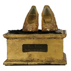 """Lana Turner """"Jacqueline Perrault"""" shoe display from Falcon Crest."""