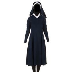"""Tracy Nelson """"Sister Steve"""" blue nun's habit from Father Dowling Mysteries."""