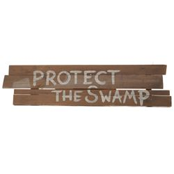 Sign prop from Swamp Thing.